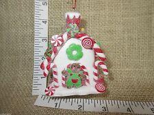 LED Gingerbread Man Cookie Claydough House Christmas Tree Ornament by Kurt Adler