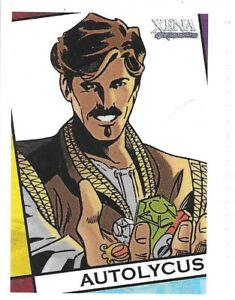 Xena XC8 Autolycus comic cartoon insert card Aaron Lopresti Dangerous Liaisons