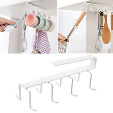 Shelf Cup Holder Coffee Mug Kitchen Storage Rack Cupboard Hook Organizer 2017