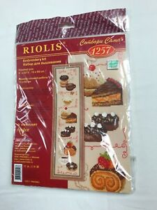 Cross stitch kit # 1257 Dolce Vita by Riolis Desserts Pies Russian Needlework