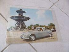 Jaguar Mark 2 1960 - catalogue brochure dépliant prospekt commercial