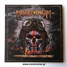 MILLENNIUM - CAUGHT IN A WARZONE, LP LTD 100 RED VINYL 2016 NO REMORSE NEW