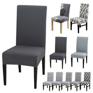 4X Dining Chair Covers Stretch Removable Washable Home Protective Stretch Covers