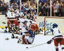 GFA 1980 Miracle on Ice Captain * MIKE ERUZIONE * Signed 8x10 Photo M3 COA