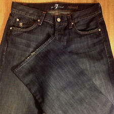SEVEN 7 For All Mankind Jeans RELAXED STRAIGHT 31x32 Distressed *EUC* M072618