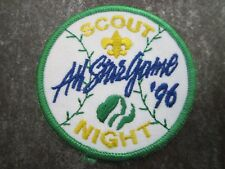 Scout Night '96 Cloth Patch Badge Boy Scouts Scouting L7K