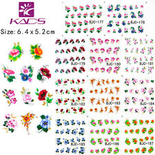 11 Sheets/Lot Nail Art Stickers Flower Water Transfer Decals BJC177-187