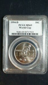 1994 D WORLD CUP PCGS MS69 Half Dollar 50C Coin Auction Starts at 99 Cents!