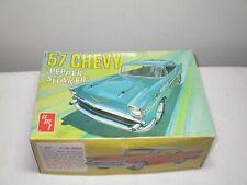 """Vintage 1970s Amt 57 Chevy """"Pepper Shaker"""" Stock Car Model Kit , Unbuilt Iob!"""
