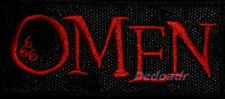 The Omen Word Logo Embroidered Patch Horror Movie 666 Damien Thorn Series 2 3