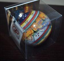 NEW GP DERUTA ROUND BALL Majolica Cobalt Orange CERAMIC Certificate Box