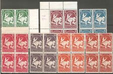 Bulgaria 1931 Year set Airmail Airpost Large Pigeon block of 4 MNH ** OG VF RARE