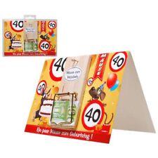 """Geldgeschenk-Karte """"Mausefalle 40"""" Glückwunsch Karte 40.Geburtstag Mausefalle"""