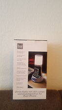 Dual CRL 10 Uhren-Radio mit LED-Lampe (iPod/iPhone Dock, PLL-UKW-Tuner, NEU
