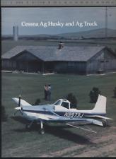 (192) Catalogue brochure aviation Aircraft Cessna Ag Husky and Ag Truck
