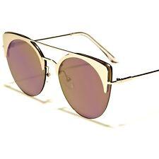 fdb2883d0a Celebrity Fashion Chic Designer Purple Mirrored Lens Silver Cat Eye  Sunglasses