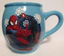 """SPIDERMAN   3D EMBOSSED BLUE SPIDERMAN CUP  3 3/4"""" TALL   10OZ"""