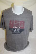 USA Olympics 2012 London Team Apparel Men's Gray T Shirt Size Medium