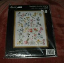Vtg Janlynn Wild Flower Alphabet Sampler #125-48 Counted Cross-stitch Kit