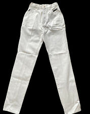 Western  ETHICS Vintage Women's  White Mom Jeans Size 0 X 36 NEW High Waist
