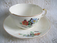 Antique Cup & Saucer Set Golden Glo Glow American Dinnerware Pattern Limoges