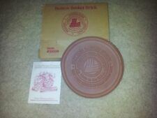 "Price Reduction Longaberger Pottery Button Bskt Brick Warmer 6"" Round,New in Box"