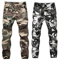 Pants ARMY Military Camo Sports Pant Gym Camouflage Casual Men's Cotton Trousers