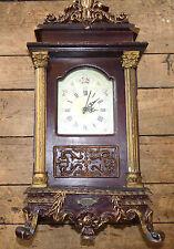 NIce Vintage Massive Wood and Plaster Desk Clock - Battery Quartz Clock