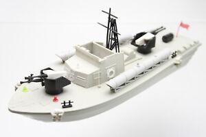 Torpedoboot mit Werk VEB Spielzeugland 80er Jahre in Ersatzkarton 37 6 (8) KK1