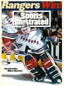 Sports Illustrated 1994 New York Rangers Mike Richter Goaltender Stanley Cup
