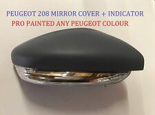 Peugeot 208 12 - 17 wing mirror cover + indicateur dans toute peugeot couleur