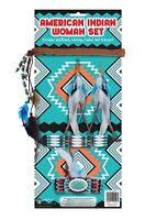 Girls American Indian Woman's Set 5 Pcs Ladies Jewelry Fancy Dress Accessories