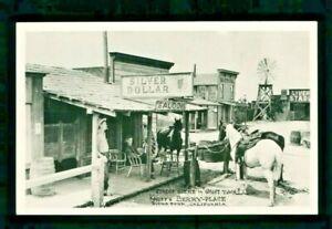 Postcard Knott's Berry Farm Silver Dollar Saloon Ghost Town Street Scene. KBF