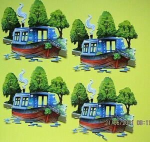 New: 8 x Tattered Lace : Canal Narrow Boat Charisma Die Cuts