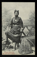 INDIA 384-INDIA -A Hill Coolie Girl Undivided Back (c. 1901-1907)