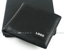 Man Wallet Bifold Genuine Leather Burse/Notecase With LOGO For Benz Car Gifts