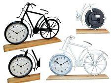 Uhr Tischuhr Standuhr Shabby Metall Fahrrad 42x 29 cm Vintage Deko Uhr
