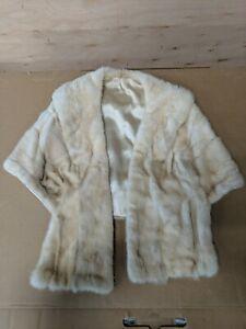 Real Fur Genuine Vintage Collar Scarf Shawl Wrap Winter Neckwarm Cape 🔥