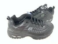 NEW! Skechers Men's ENERGY AFTER BURN Lace Up Shoes EW WIDTH Blk #5008EW 175M tz