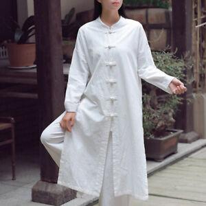Chinese Tang Suit Top Martial Arts Kung Fu Uniform Vintage Women Tai  Coat