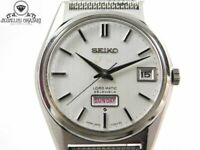 1968s SEIKO LORD MATIC 23J 5606-7020 AUTOMATIC DAY-DATE MENS VINTAGE WATCH JAPAN