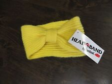 Vintage 80s Hat Headband Lemon Angora Lambswool NOS  Turban Retro Ski Winter