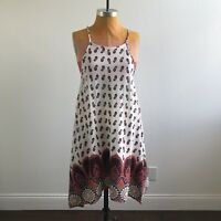 Speed Control Womens Dress High Neck Sharkbite Paisley Spaghetti Strap Size L