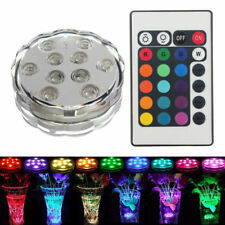 10 LED RGB Unterwasser Licht Wasserdicht Multi Farbe  Party Vase Base Blum