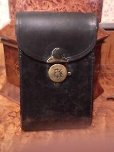 Antique Kodak Jr 1A Black Leather Brass Lock Folding Pocket Camera Case Only