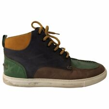 Dsquared2 Men's Blue, Green and Brown Distressed Leather Boots size 8UK 42EU