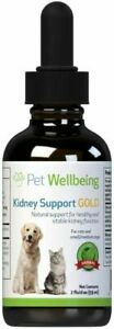 Pet Wellbeing - Kidney Support Gold for Dogs - Natural for Canine Kidney 2 Oz