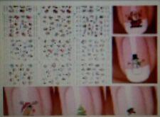 Christmas Nail Art Stickers Snow Flakes Cute Snowmen Trees Nail Decals
