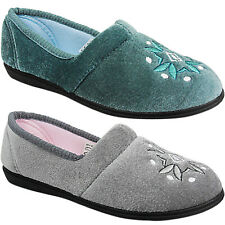 0d47171f0f5 Womens Ladies Hard Sole Indoor Outdoor Slippers Shoes Size Moccasin Comfort  New