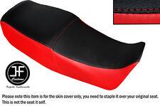 Rojo Y Negro Automotriz Vinilo personalizado se adapta a Suzuki GS 450 e Dual Cubierta de asiento solamente